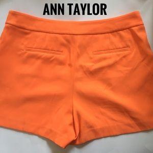 Beautiful orange Ann Taylor shorts size 12